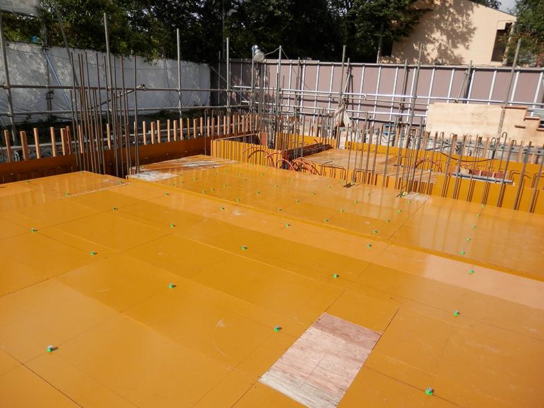 GD明治神宮前・1階床型枠・配筋工事・1