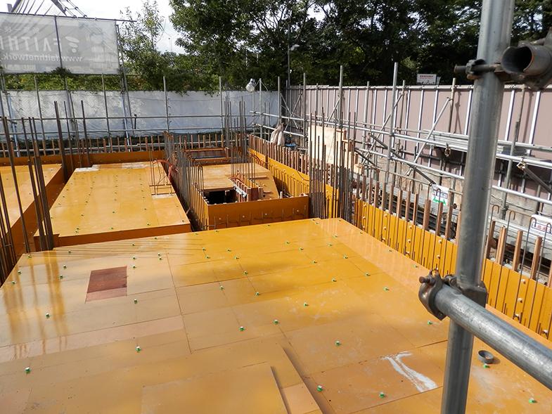 GD明治神宮前・1階床型枠・配筋工事・2