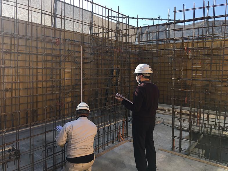 3F壁配筋検査