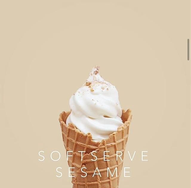 胡麻ソフトクリーム